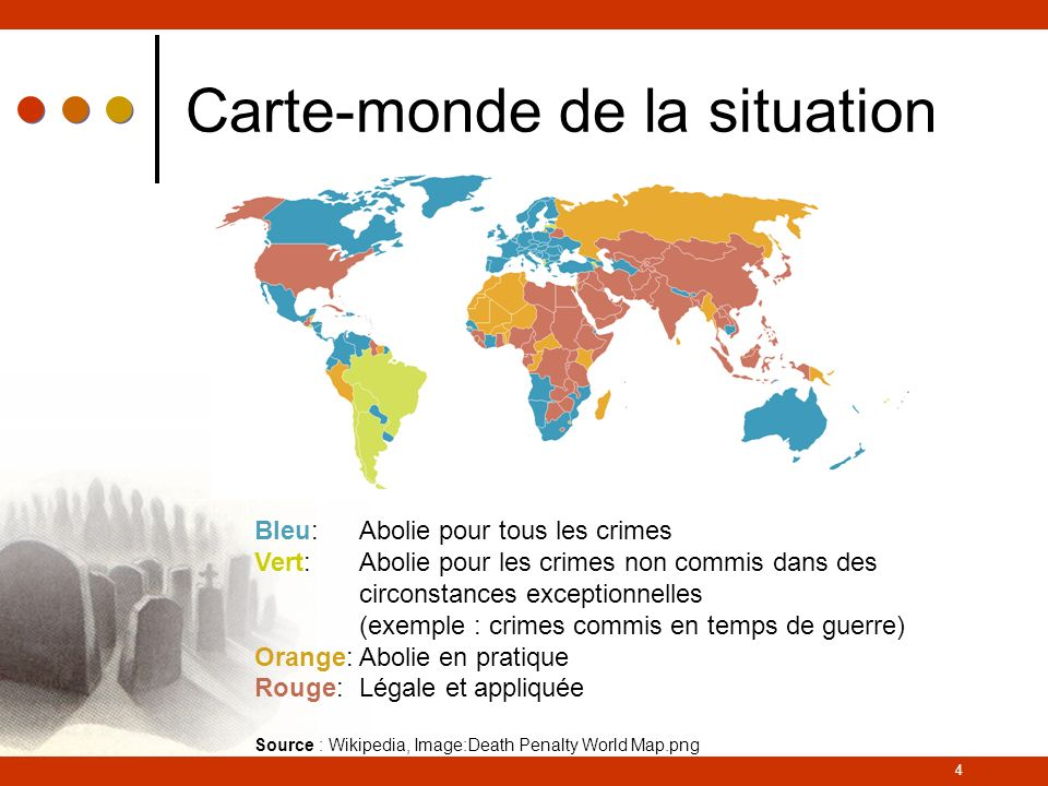 Carte-monde de la situation