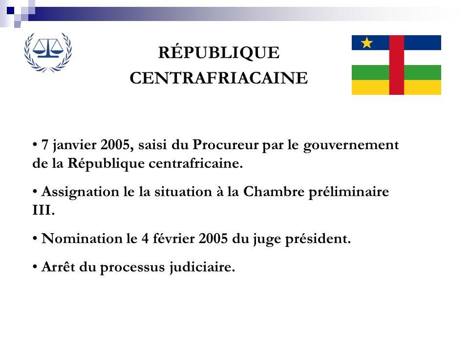 RÉPUBLIQUE CENTRAFRIACAINE