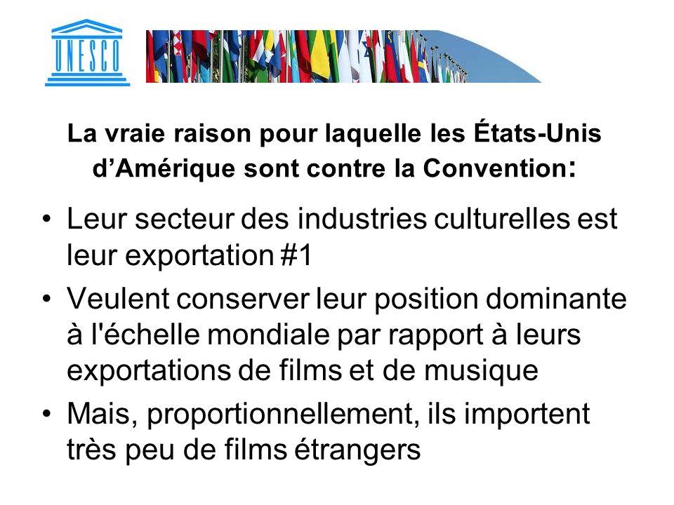 Leur secteur des industries culturelles est leur exportation #1
