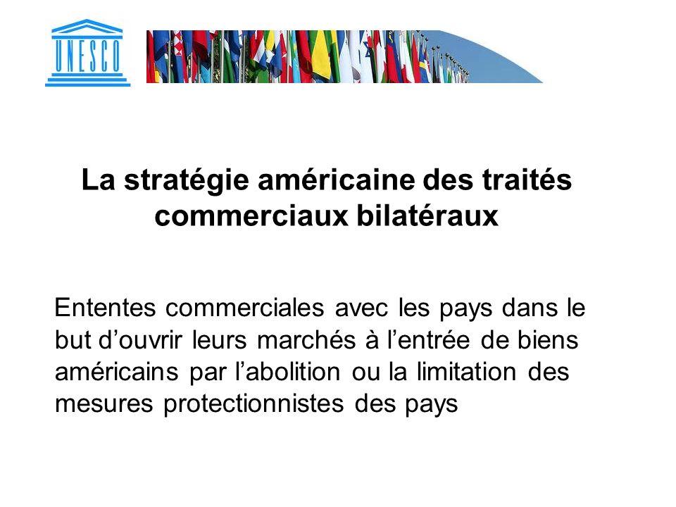 La stratégie américaine des traités commerciaux bilatéraux
