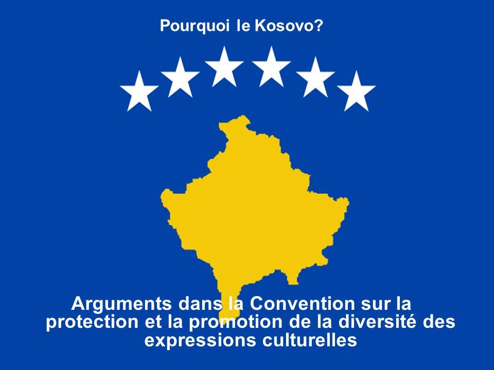 Pourquoi le Kosovo.