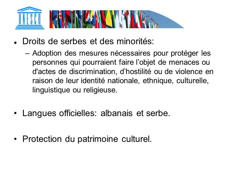 Droits de serbes et des minorités: