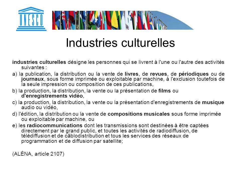 Industries culturelles