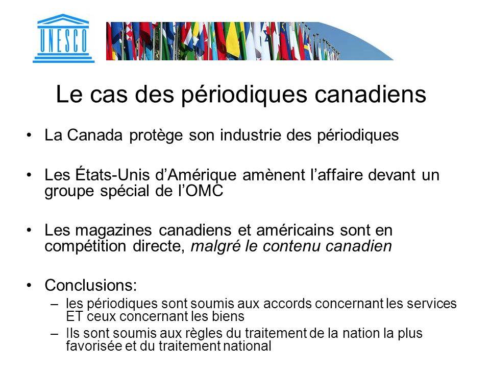 Le cas des périodiques canadiens