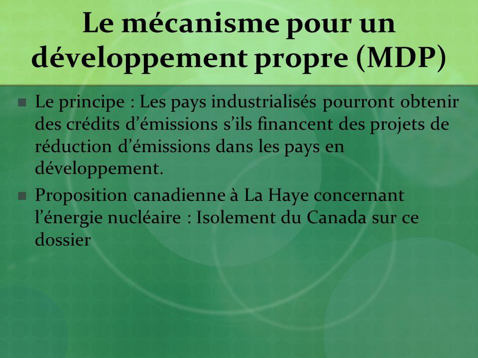 Le mécanisme pour un développement propre (MDP)