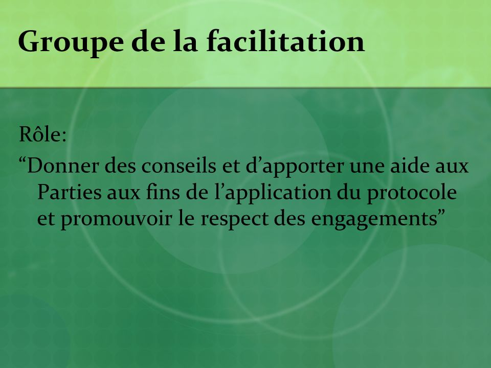 Groupe de la facilitation