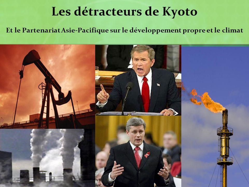 Les détracteurs de Kyoto Et le Partenariat Asie-Pacifique sur le développement propre et le climat