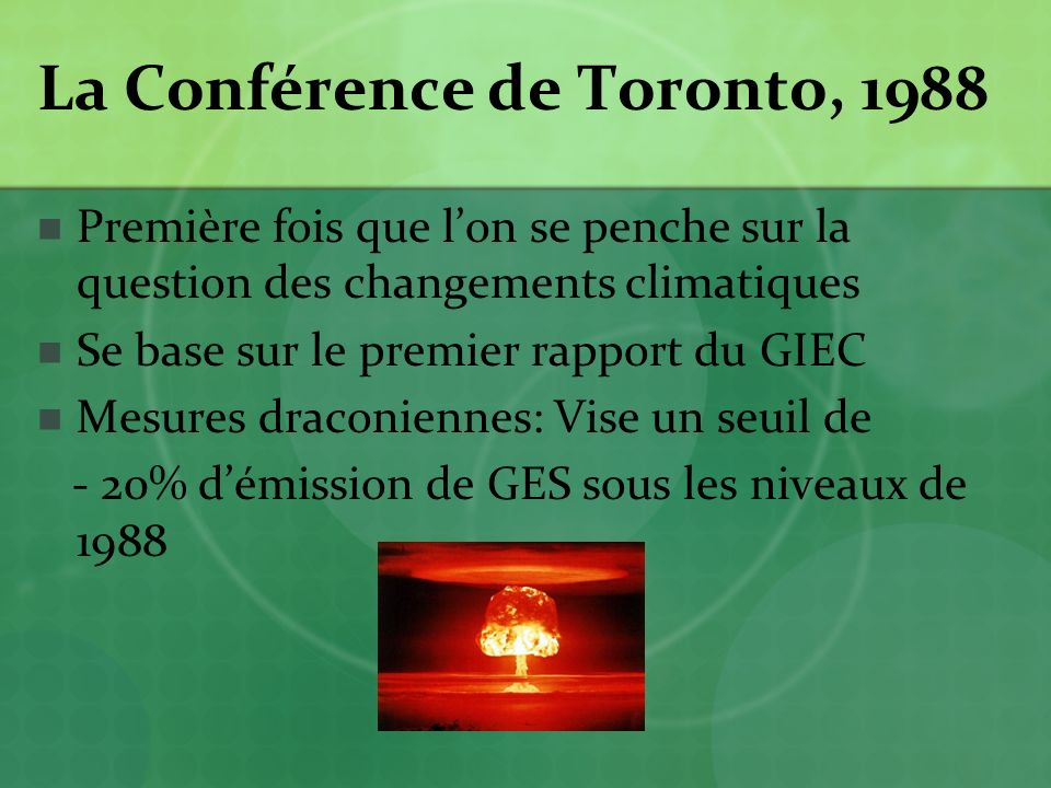 La Conférence de Toronto, 1988