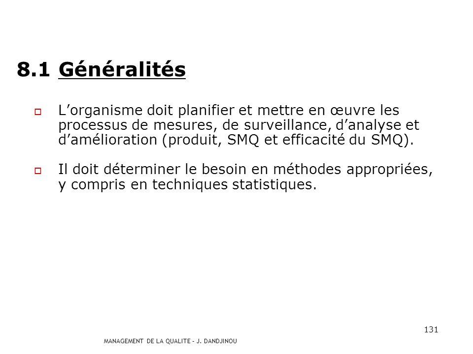 8.1 Généralités