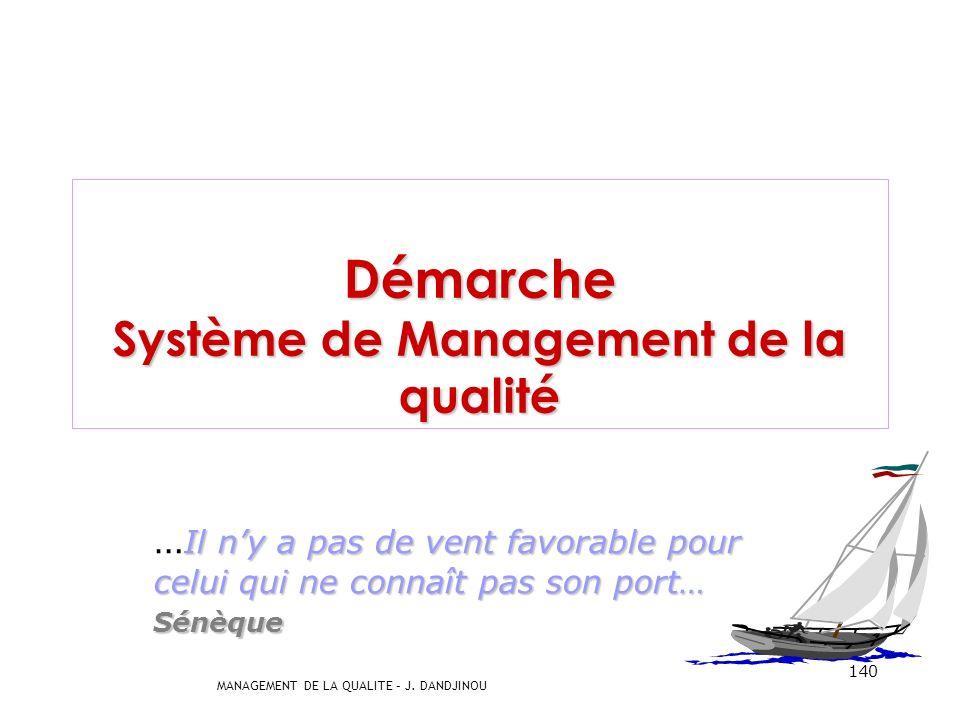 Démarche Système de Management de la qualité