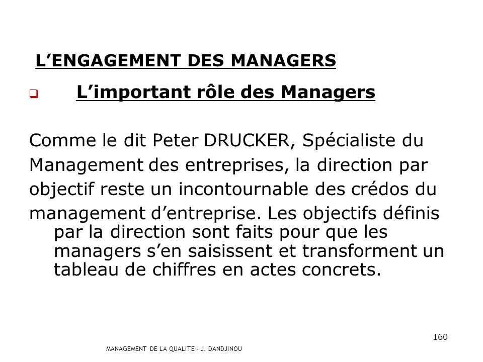 L'ENGAGEMENT DES MANAGERS