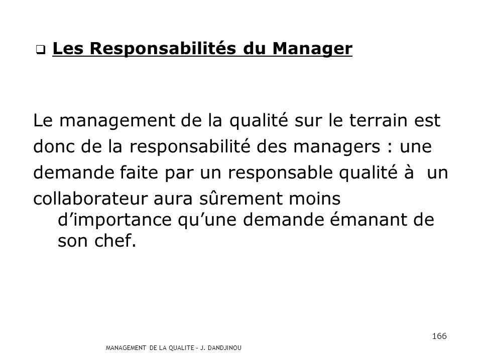 Les Responsabilités du Manager