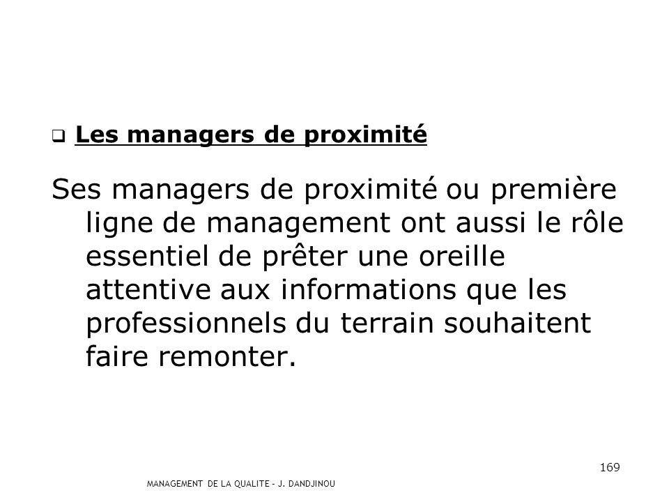 Les managers de proximité