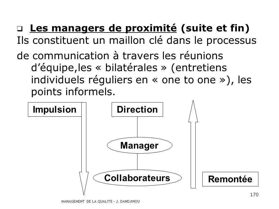 Les managers de proximité (suite et fin)