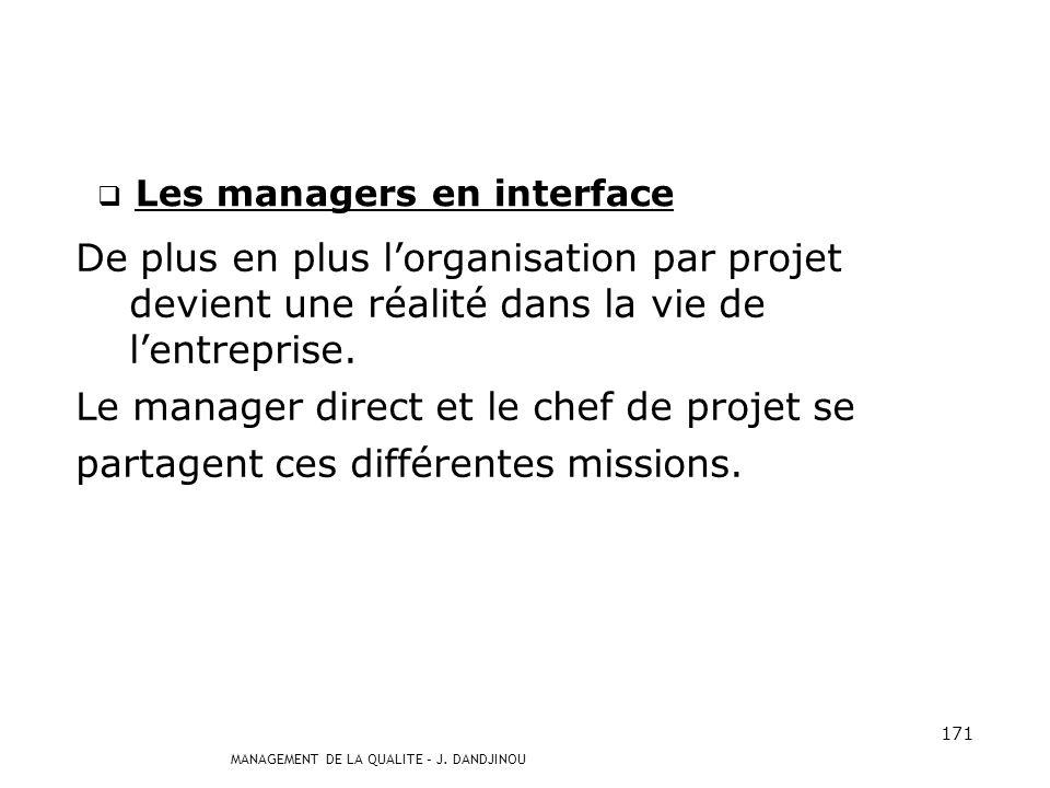 Les managers en interface