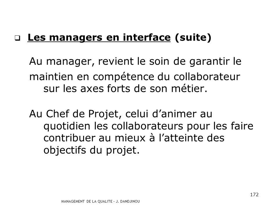 Les managers en interface (suite)