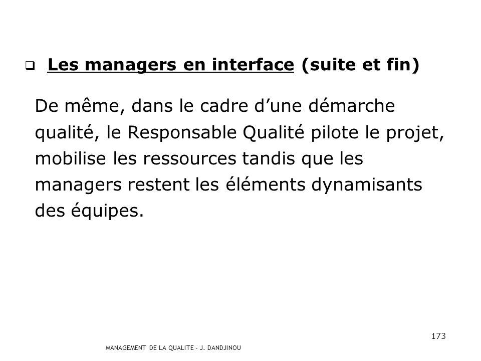 Les managers en interface (suite et fin)