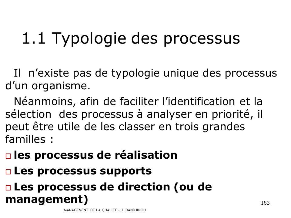 1.1 Typologie des processus