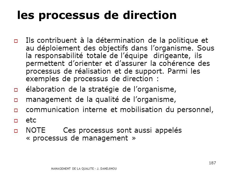 les processus de direction