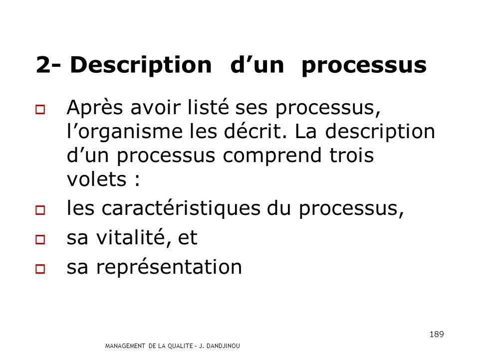 2- Description d'un processus