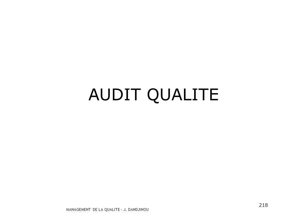 AUDIT QUALITE