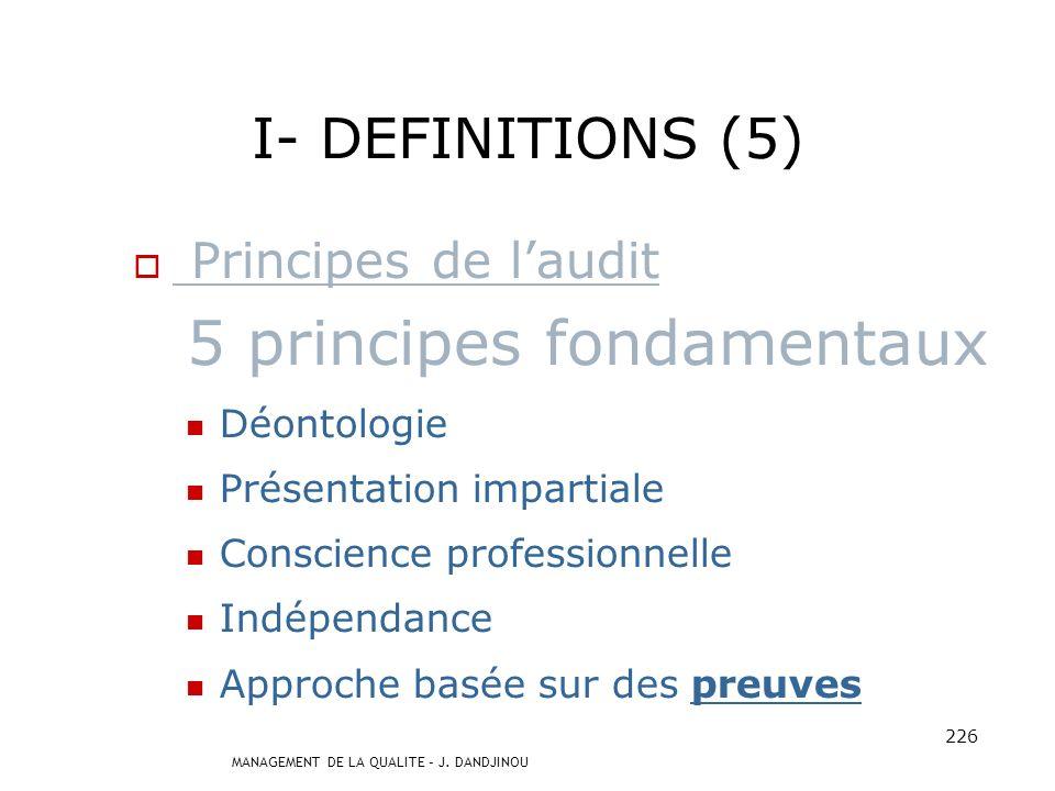 5 principes fondamentaux
