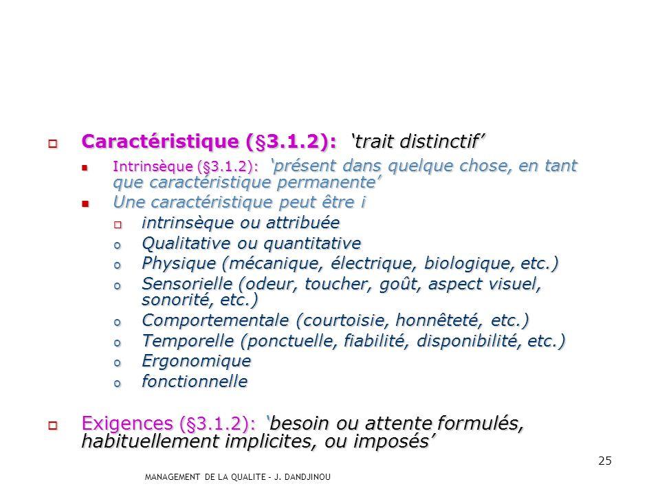Caractéristique (§3.1.2): 'trait distinctif'