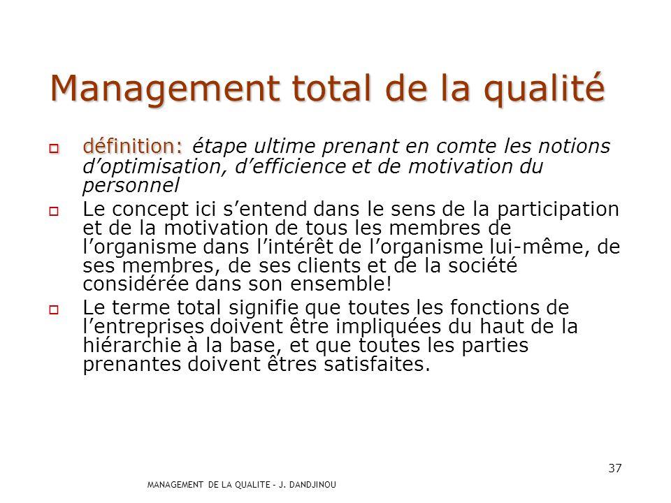 Management total de la qualité