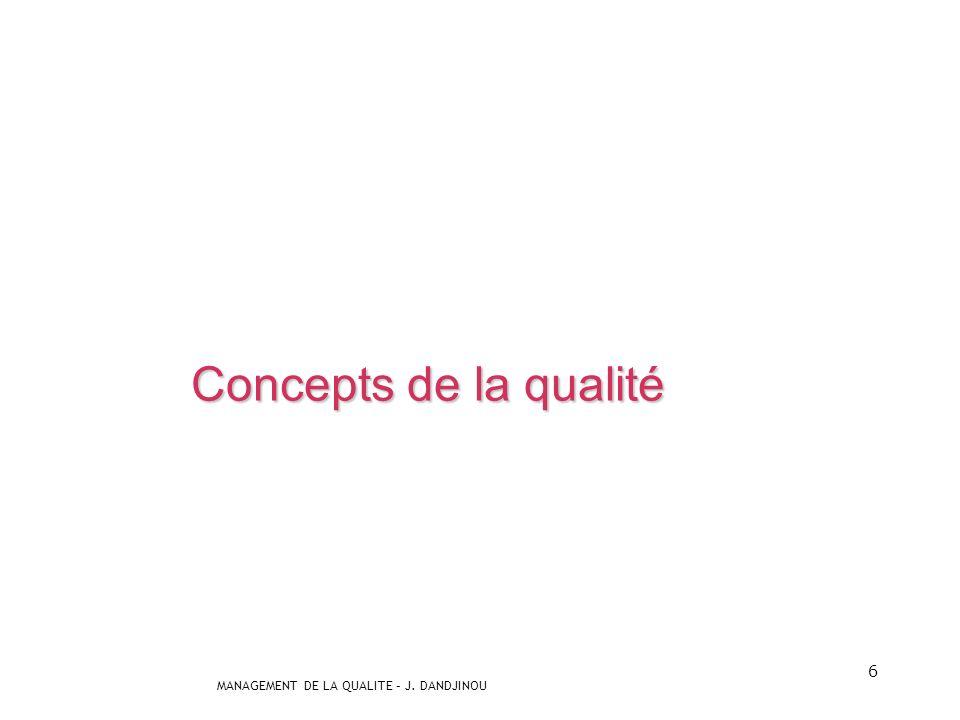 Concepts de la qualité