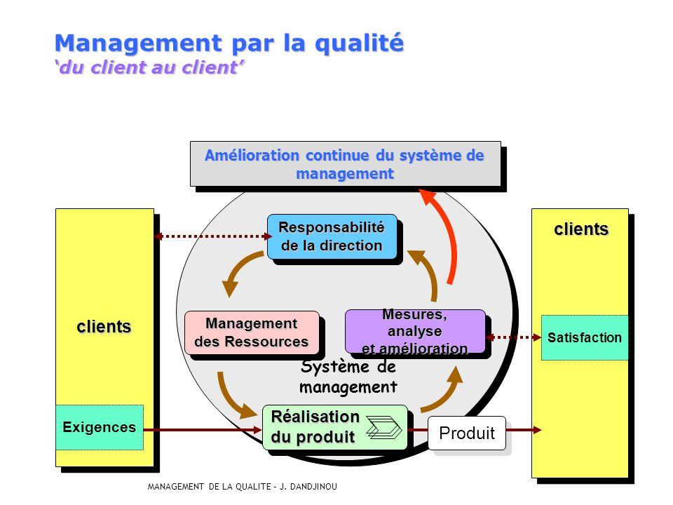 Management par la qualité 'du client au client'