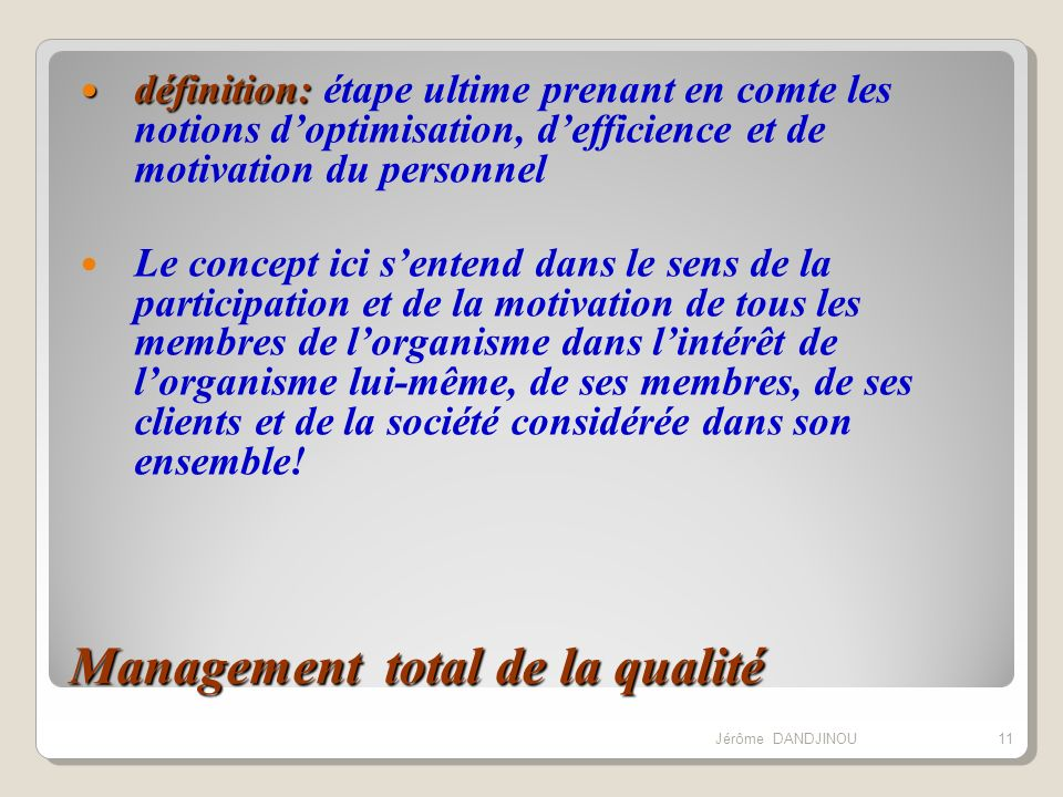 Management total de la qualité