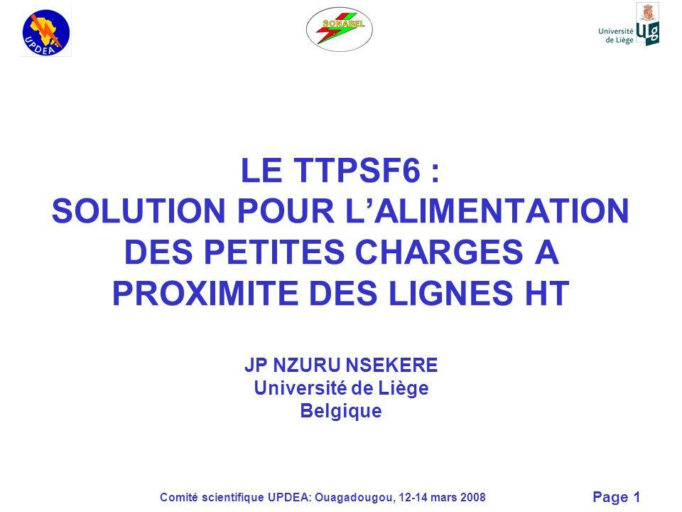 LE TTPSF6 : SOLUTION POUR L'ALIMENTATION DES PETITES CHARGES A PROXIMITE DES LIGNES HT JP NZURU NSEKERE Université de Liège Belgique