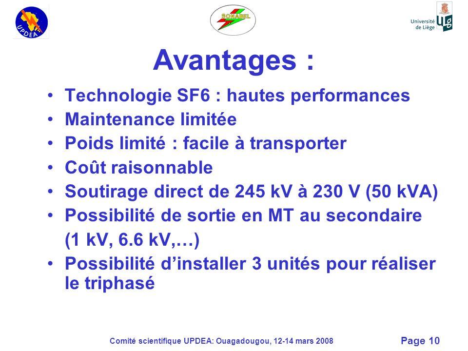 Avantages : Technologie SF6 : hautes performances Maintenance limitée