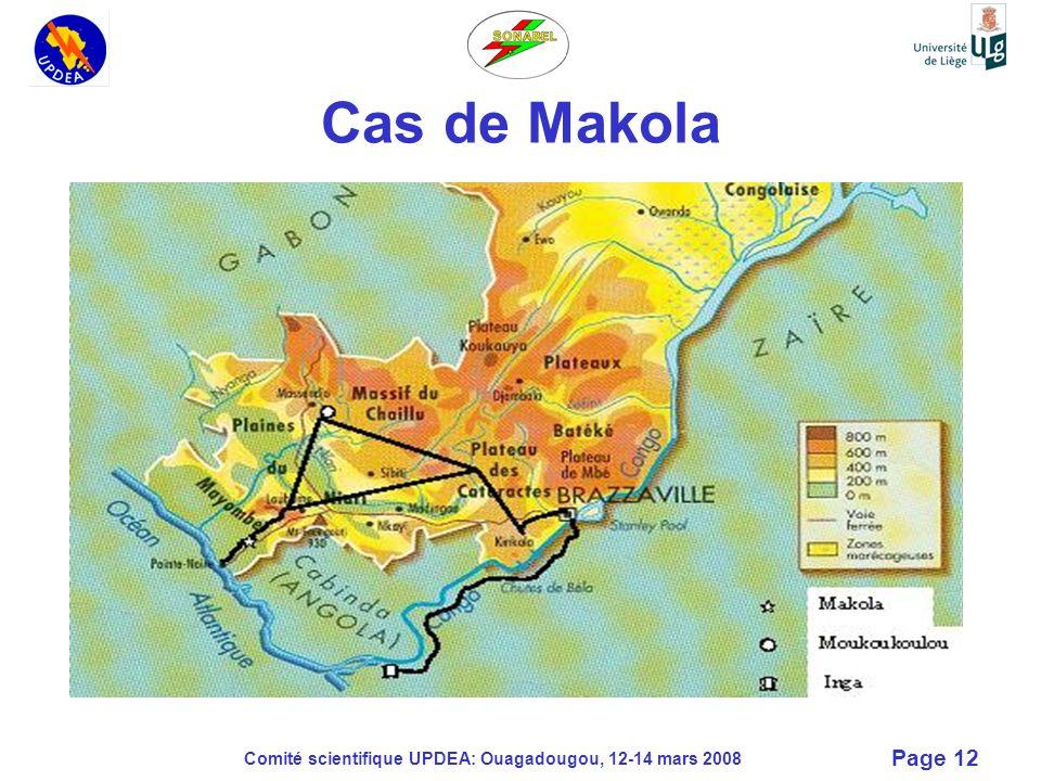 Cas de Makola Comité scientifique UPDEA: Ouagadougou, 12-14 mars 2008
