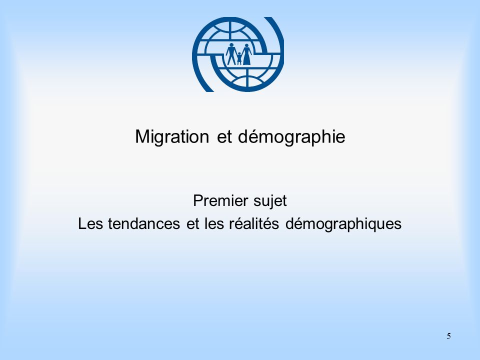 Migration et démographie