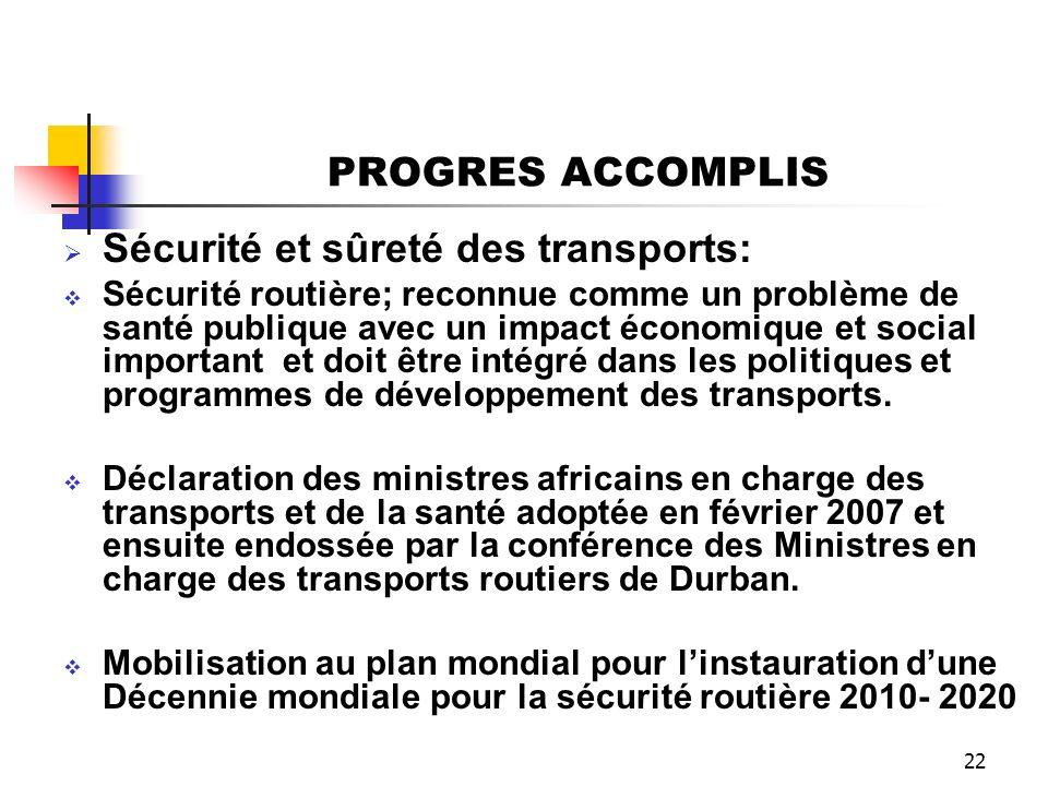 Sécurité et sûreté des transports: