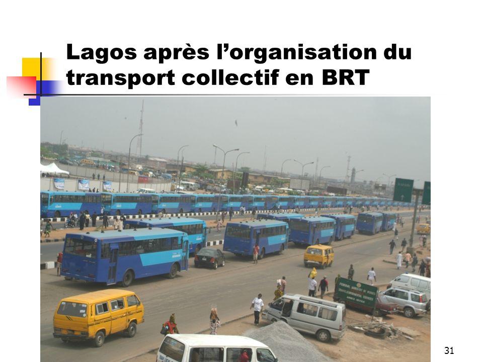 Lagos après l'organisation du transport collectif en BRT