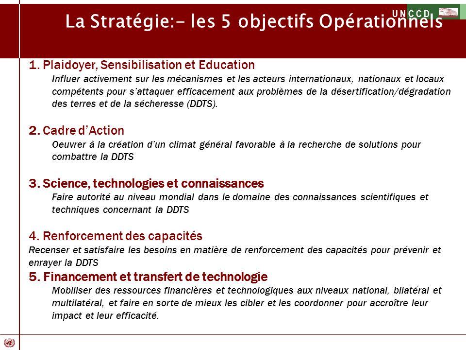 La Stratégie:- les 5 objectifs Opérationnels