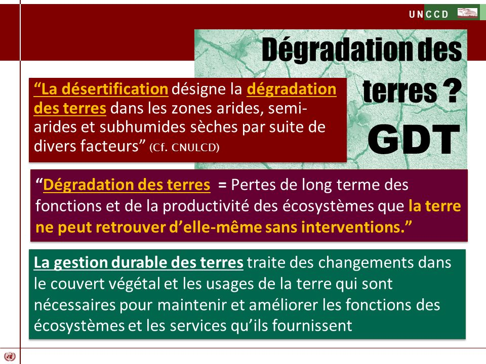 GDT Dégradation des terres