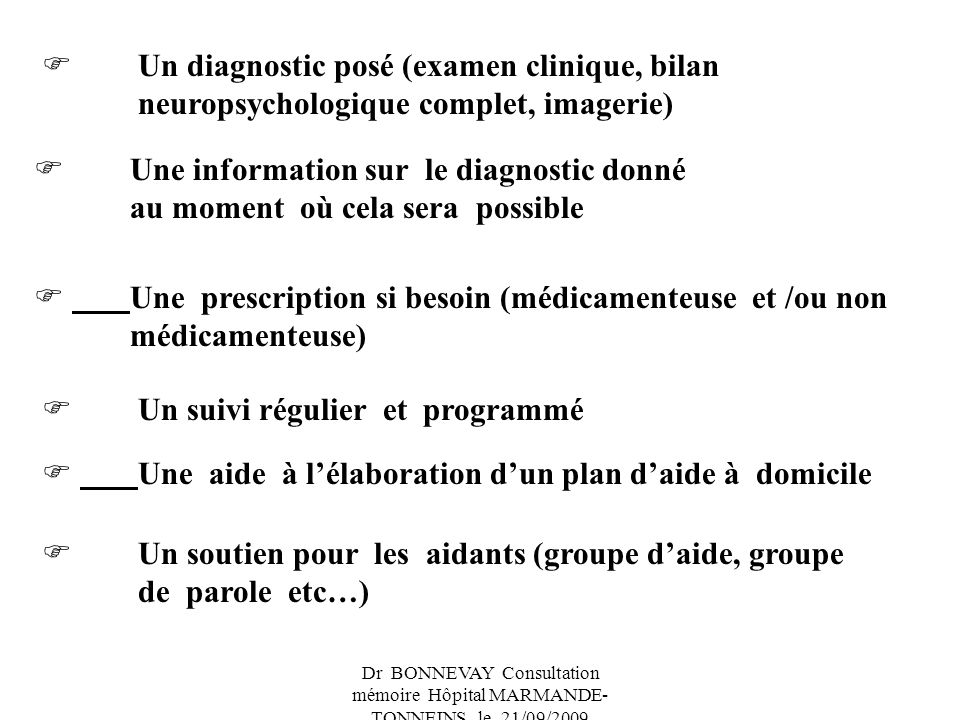  Une information sur le diagnostic donné