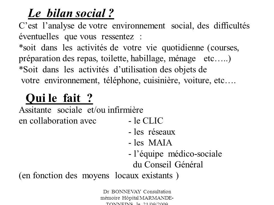 Le bilan social Qui le fait