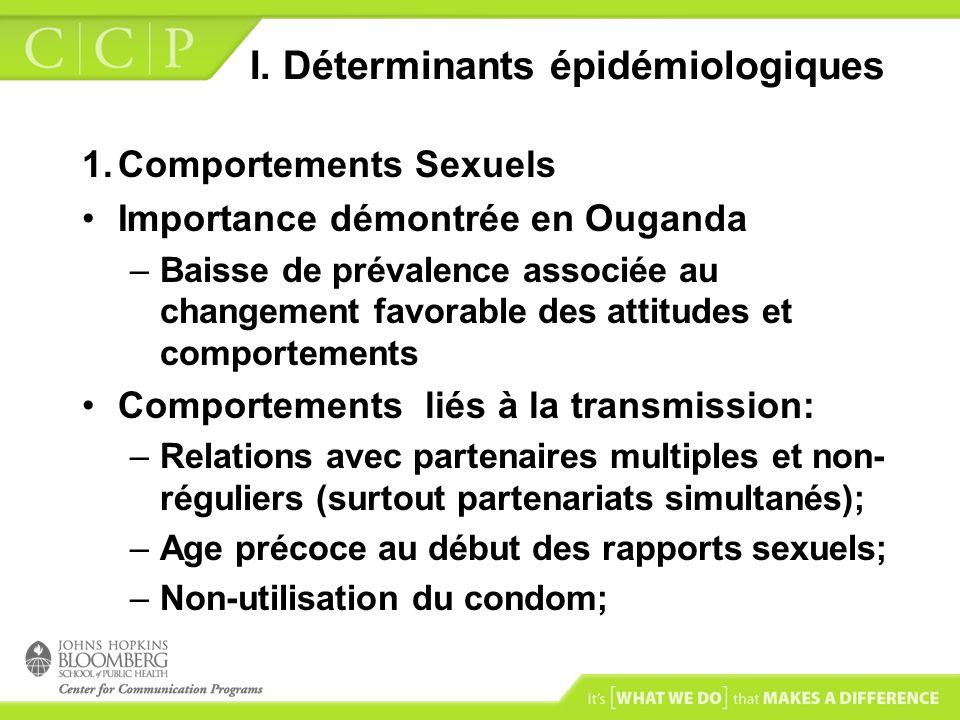 I. Déterminants épidémiologiques