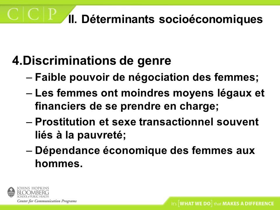 II. Déterminants socioéconomiques