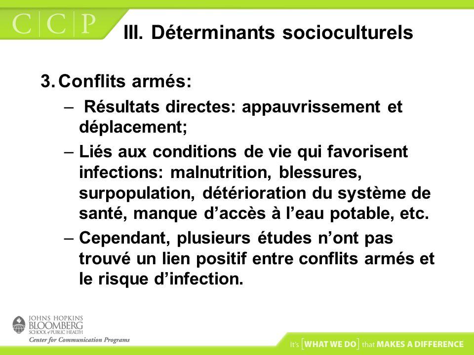 III. Déterminants socioculturels