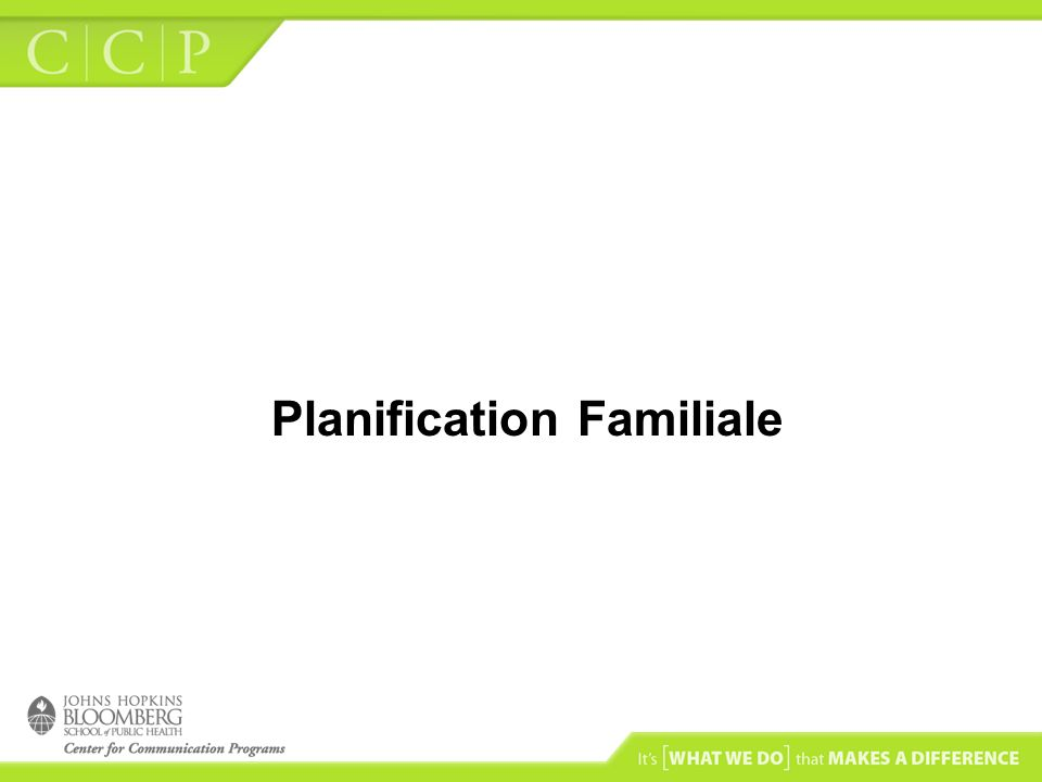 Planification Familiale