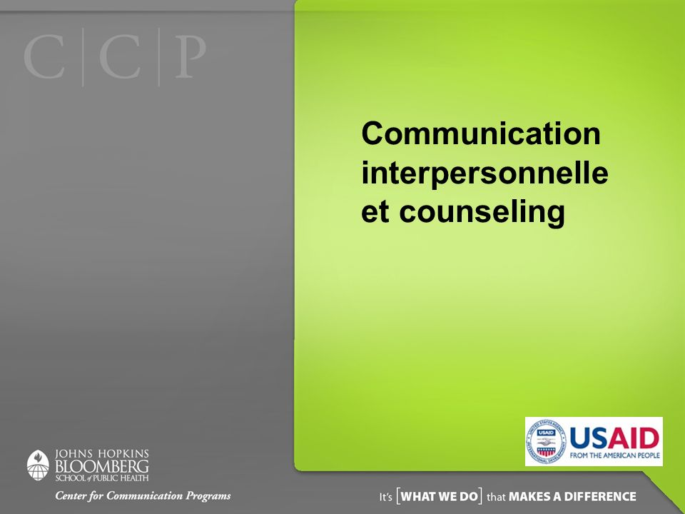 Communication interpersonnelleet counseling