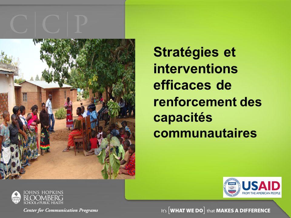 Stratégies et interventions efficaces de renforcement des capacités communautaires