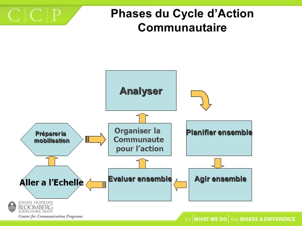 Phases du Cycle d'Action Communautaire