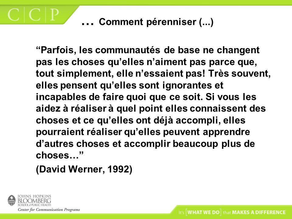 … Comment pérenniser (...)
