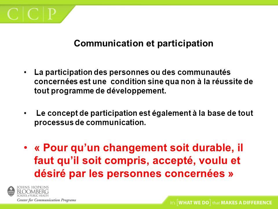 Communication et participation
